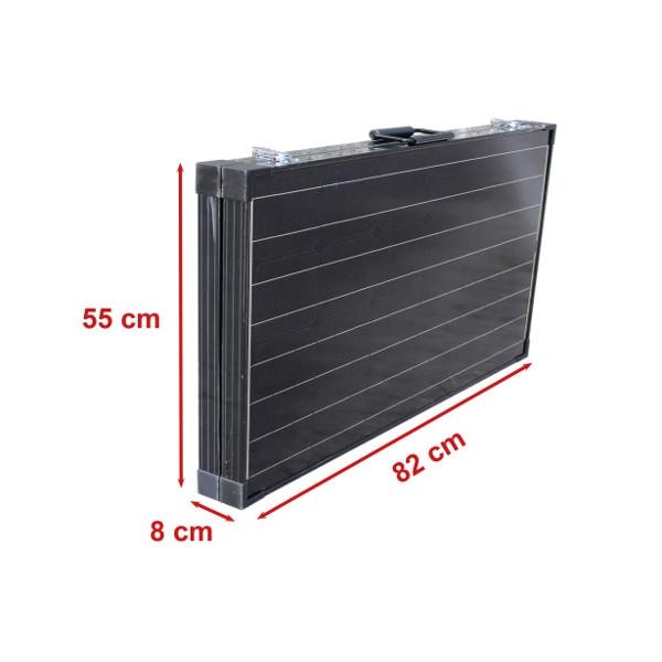 150W (450Wh) lyx solcellväska, svart mMPPT